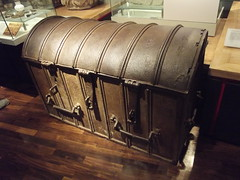wood, table, baggage, trunk, antique,