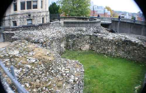 Ruins of Winchester Castle, England