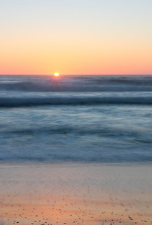 Sunset at Pomponio State Beach