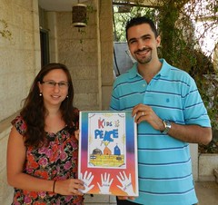 Rebecca Sullum and Mohammad Joulany infront of k4p's office in jerusalem