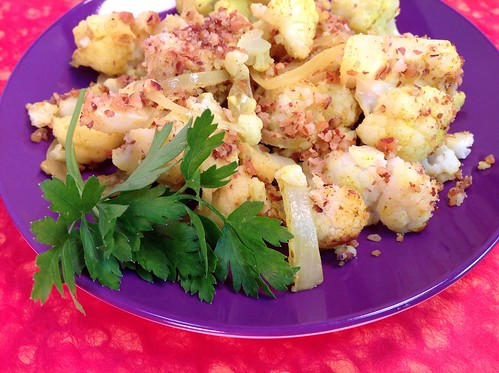 Baked Curry Cauliflower