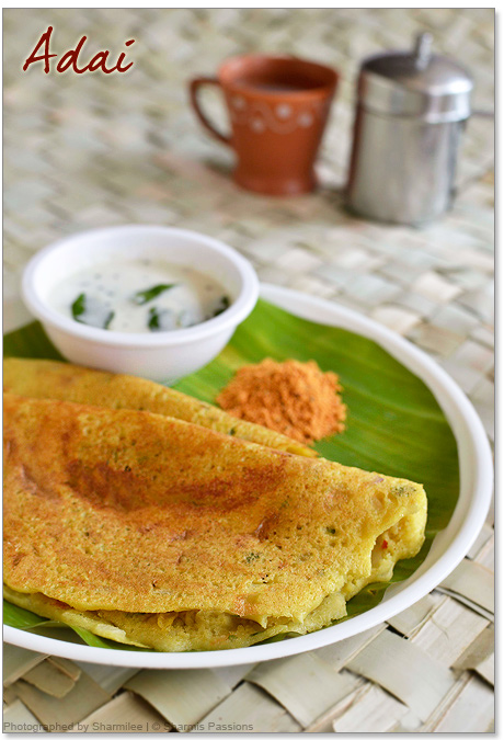Adai recipe how to make adai dosa sharmis passions adai recipe forumfinder