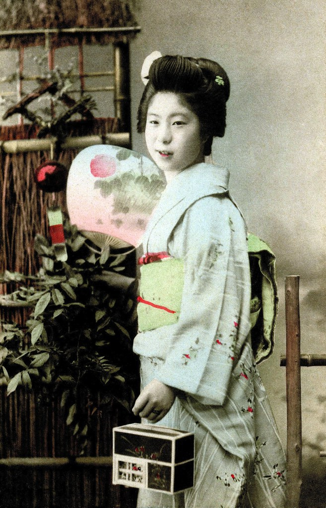 ... A Young Geisha with a Firefly Cage 1900 | by Blue Ruin 1