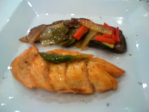 Chicken with Vegetables at AC Palacio Vigo Spain