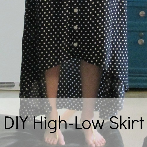 DIY high low polka dot skirt.