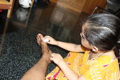 Marziya Cleans Up My Leg After I Come Back From The Shoot by firoze shakir photographerno1