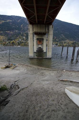 bridge lake fall beach sand nelson lakeside supports
