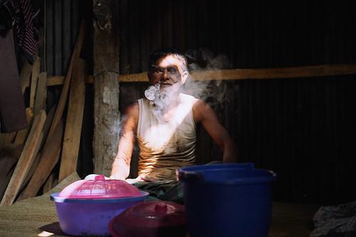 Sawmill lunch break, Bangladesh