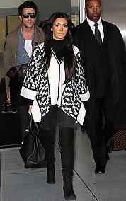 Kim Kardashian Cape Coat Celebrity Style Women's Fashion 4