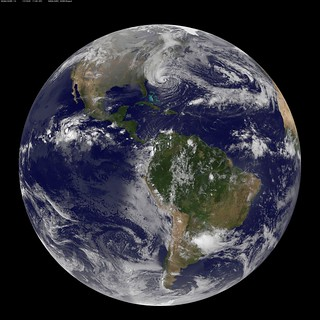 Nasa GOES image of Hurricane Sandy