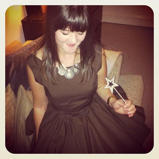 Topshop Jade Jones brown bow dress