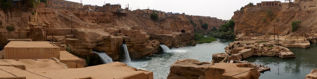 Panorama of the Shushtar Historical Hydraulic System