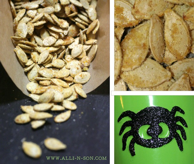 Caramelized Sriracha Pumpkin Seeds Recipe from www.alli-n-son.com