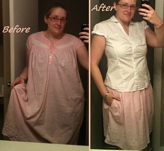 Nighty Skirt Before & After