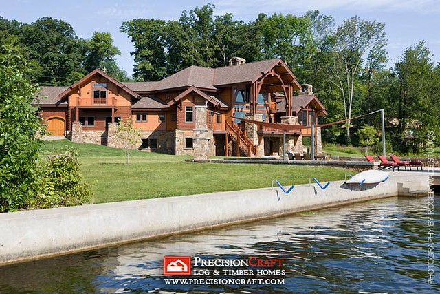 Waterfront View | PrecisionCraft Custom Log Home