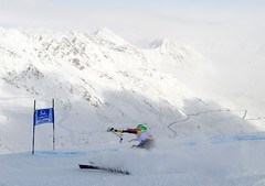Dustin Cook at the World Cup giant slalom in Soelden, Austria.