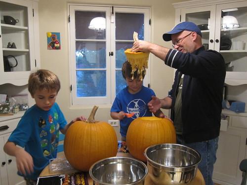Top of Finn's pumpkin