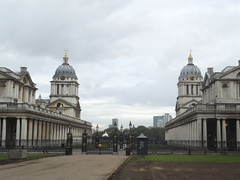 Old Royal Naval College from the grounds of the National Maritime Museum, Greenwich - King William Court and Queen Mary Court