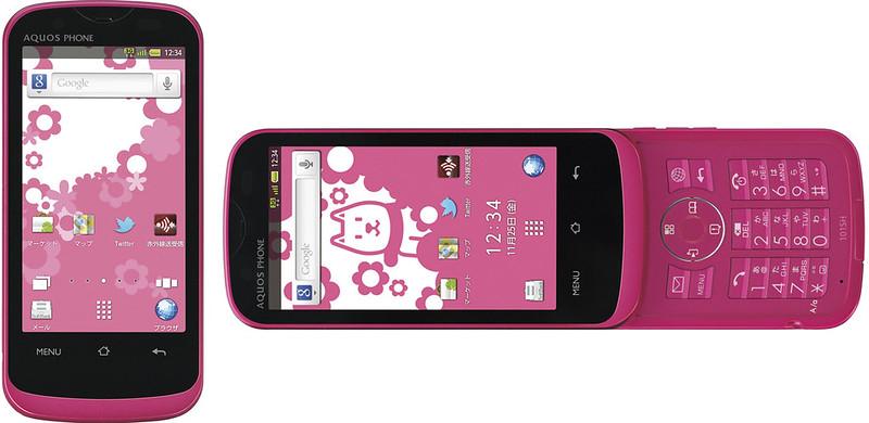 AQUOS PHONE THE HYBRID 101SH 実物大の製品画像