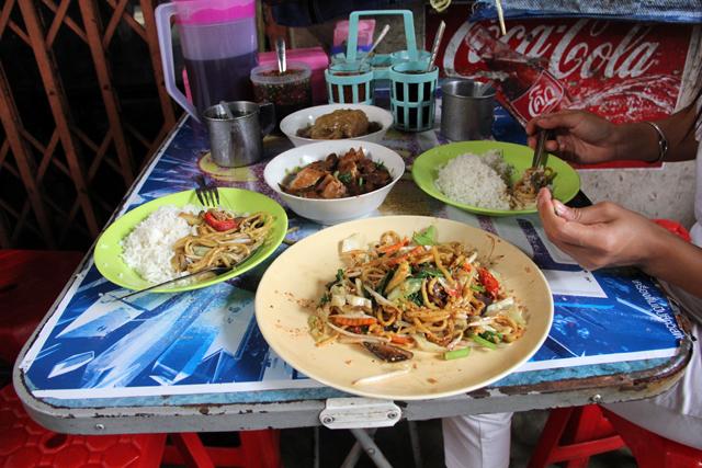 Vegetarian Meal in Chinatown Bangkok
