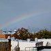 Rainbow over Manhattan after Hurricane Sandy by mysuspira