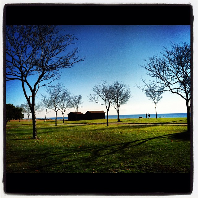 Lake Michigan as seem from the Lakefront Discovery 15K in Milwaukee.