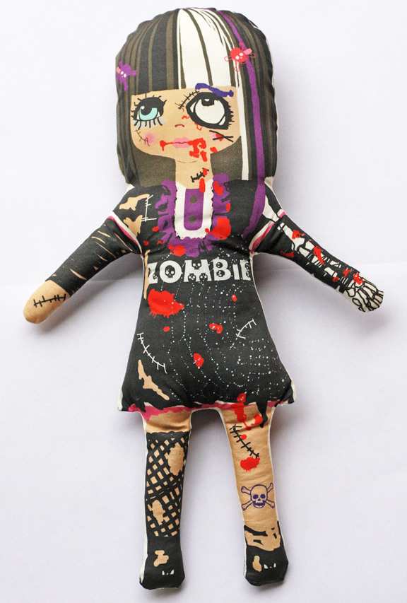 Zombie softie doll