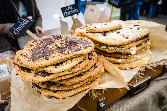 cookies camden lock market artisanal food london england