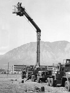 US Corporal Missile System Servicing Platform from Denver Post dated October 1959
