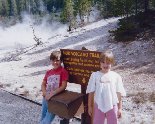 Me and my cousin Stacey at Yellowstone, 1978.