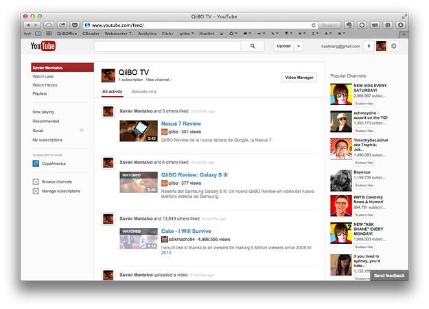 Prueba el nuevo diseño secreto de Youtube