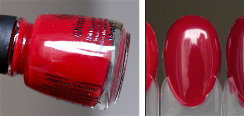 Red satin swatch
