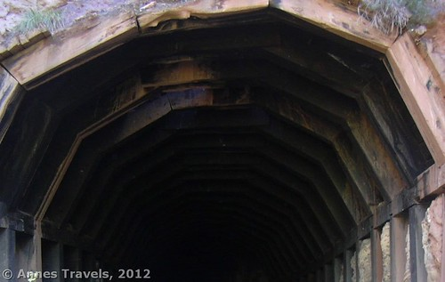 The top of one of the tunnels along the Manitou Railroad Grade, Pike National Forest, Colorado