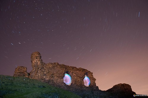longexposure lightpainting holygrail camelot day4 nationalgeographic polaris startrail castelldinasbran project365 dinasbrancastle ironagehillfort garethbrooks orbmach2