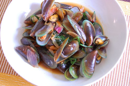 mussel soup oyster sauce