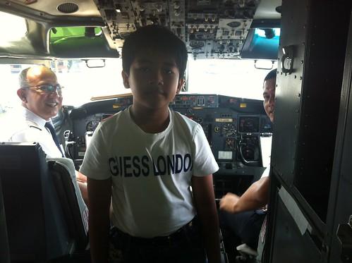 Foto di ruang kabin Garuda sewaktu sampai di Jakarta, 6 Januari 2012