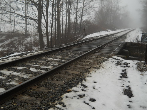 the rail in mist