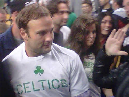 Wes Welker In Boston Celtics Shirt By Sportiqe