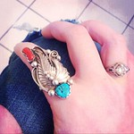silver and turquoise ring from sjaramillo3 on Poshmark