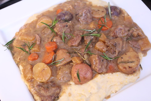Lamb Ale Stew with Polenta