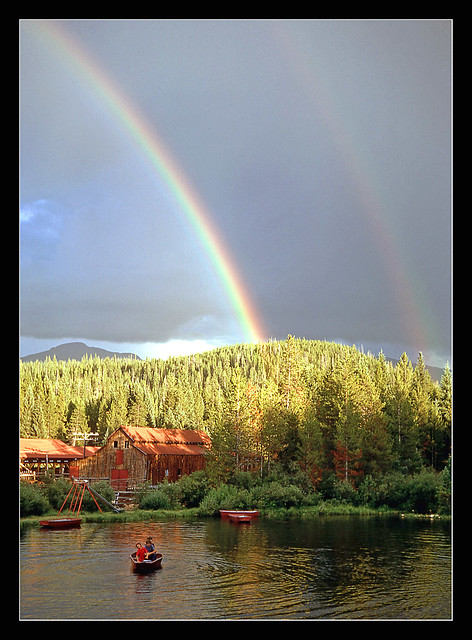 Rainbow over the pond