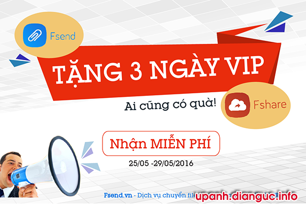 |Event| - FSEND tặng 3 ngày Vip FSHARE !