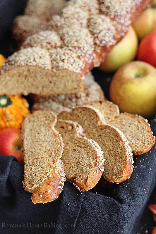 Whole Wheat Pumpkin Challah from Roxana's Home Baking- This Whole Wheat Pumpkin Challah is an easy to make homemade bread that is perfect for fall.