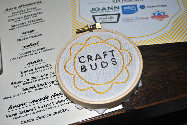 Craft Buds hoop, embroidered by Jessica
