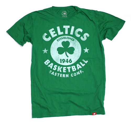 Boston Celtics Tap T Shirt By Sportiqe