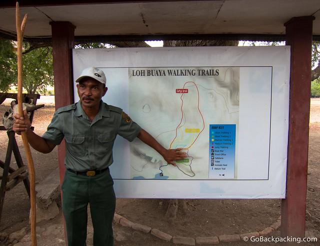 A guide explains the local trains around Rinca Island