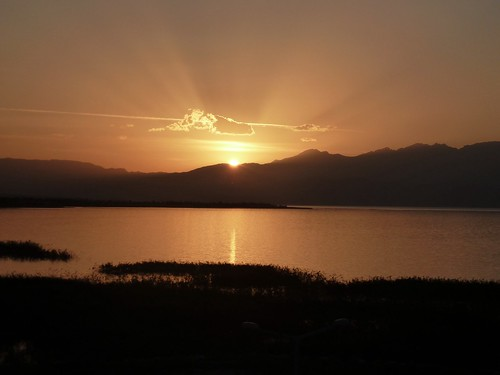 Sunset over Lake Beysehir by mattkrause1969