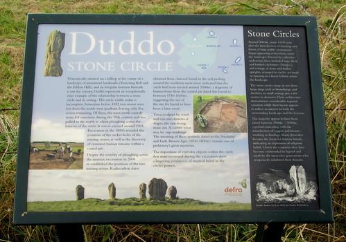 Duddo information board