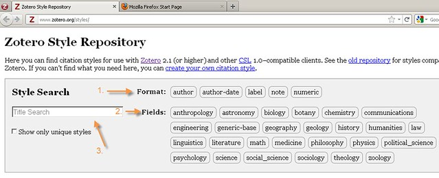 Search the style repository