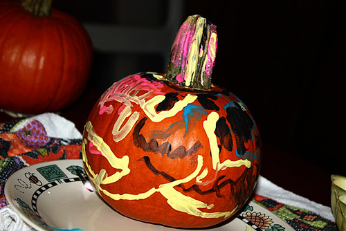 Autumns-painted-pumpkin